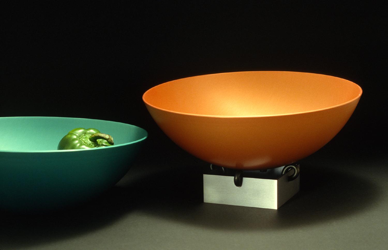 """Bowls: 12"""" diam. c 1988"""