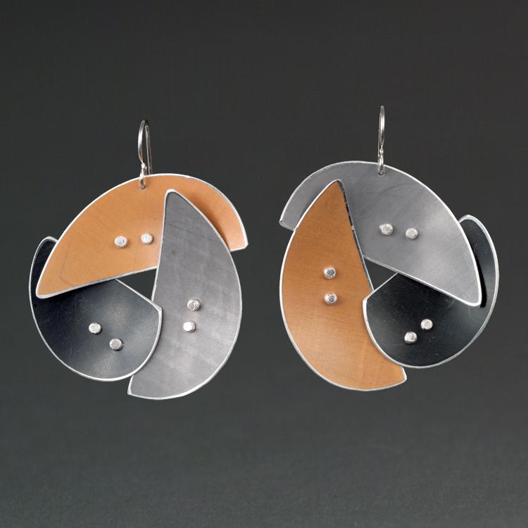 A - Silver, Rust, Grey