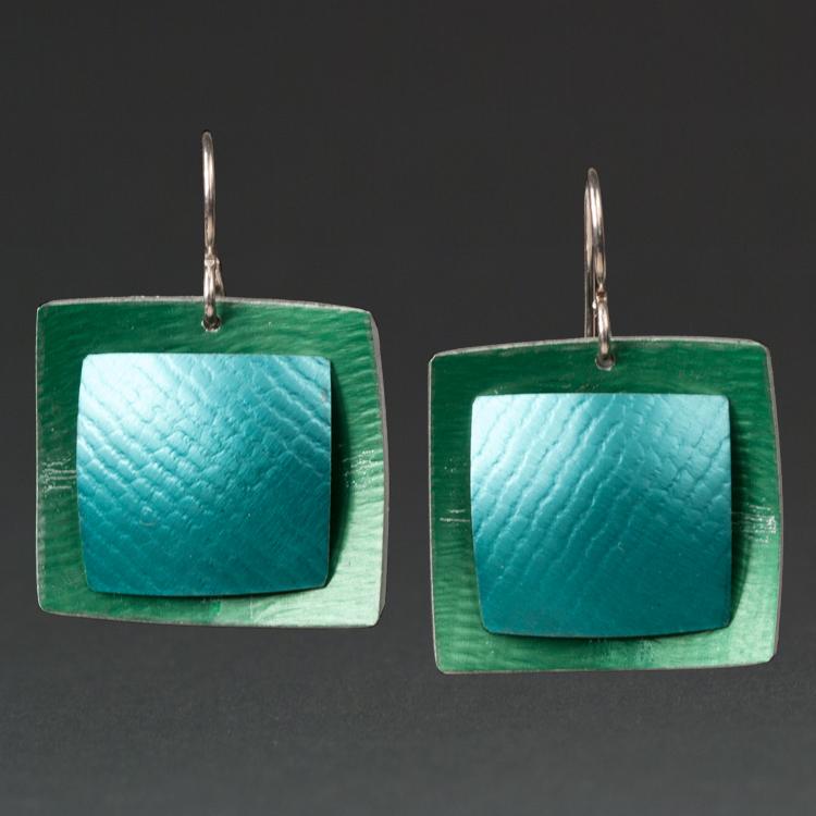 B - Green, Turquoise.