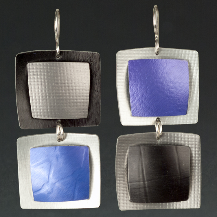 B -Black, Grey, Purple.