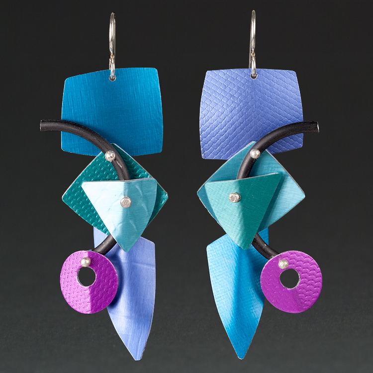 B -Royal, Turquoise, Purple.