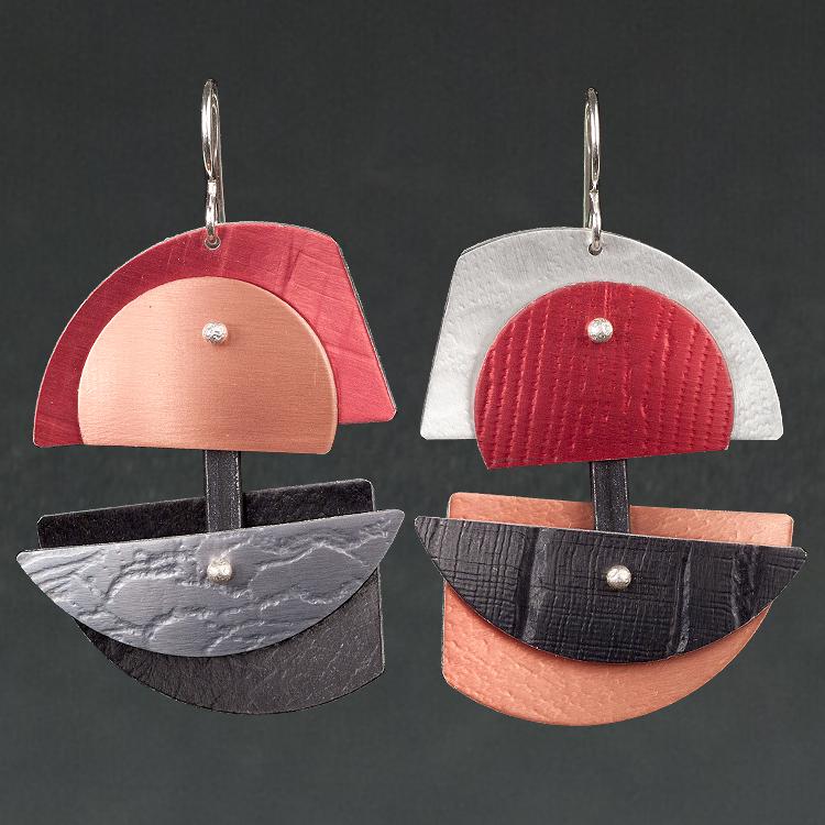 D - Red, Rust, Black