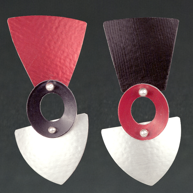 A - Silver, Red, Black