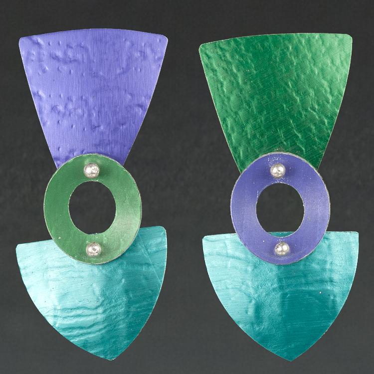 E - Purple, Green, Turquoise
