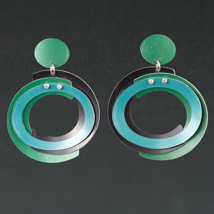 B - Green, Black, Turquoise
