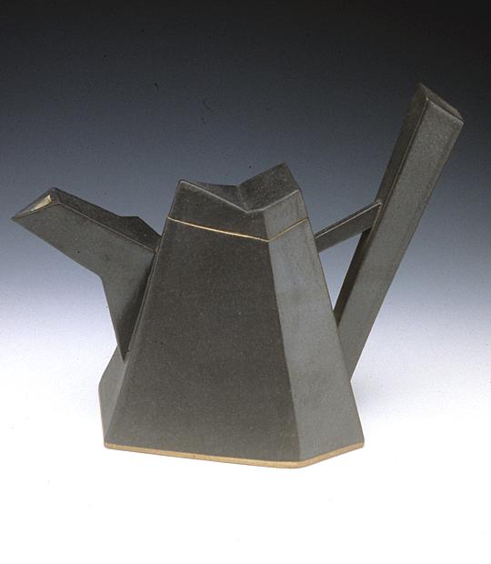 Teapot (slab built) c.1980 photo Tony Cunha