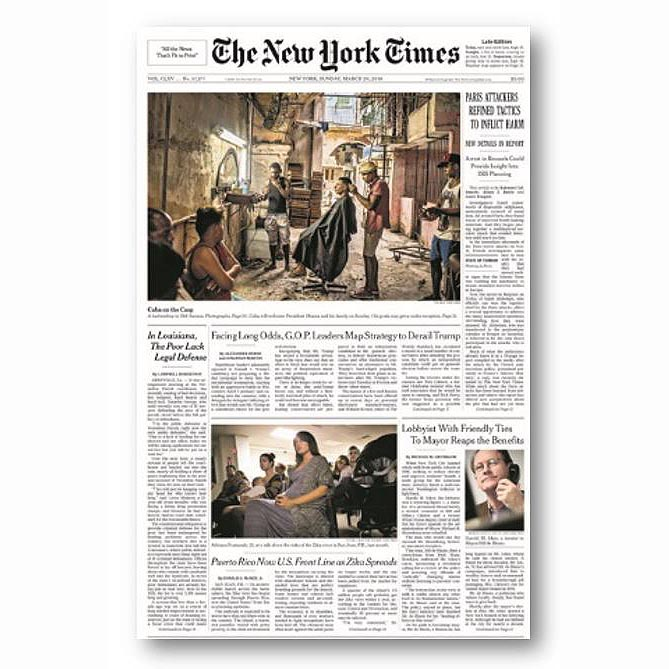The New York Times, Mar 20, 2016