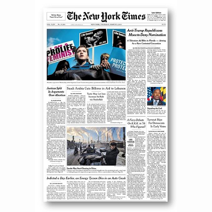 The New York Times, Mar 3, 2016