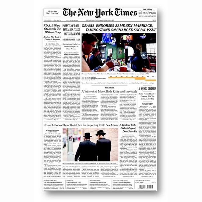 The New York Times, May 2012
