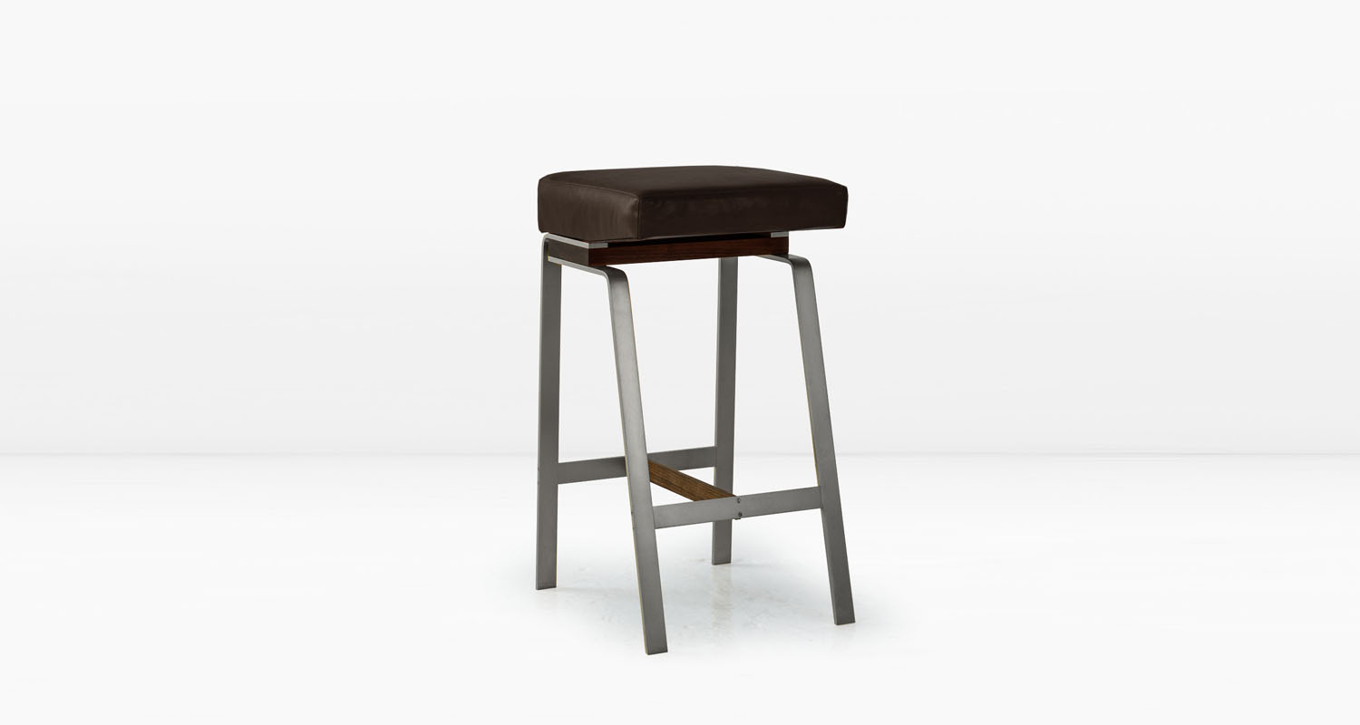 Nickel base with American Black Walnut &  Chocolate  leather seat