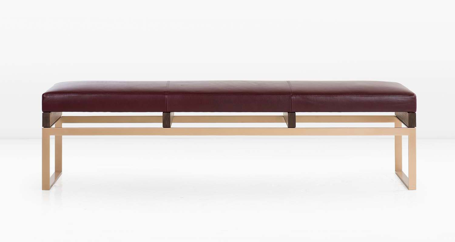 Plum leather with a Solid Silicon Bronze base