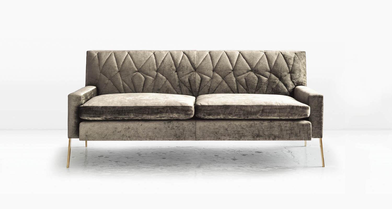 Silicon Bronze legs and Linen Velvet fabric
