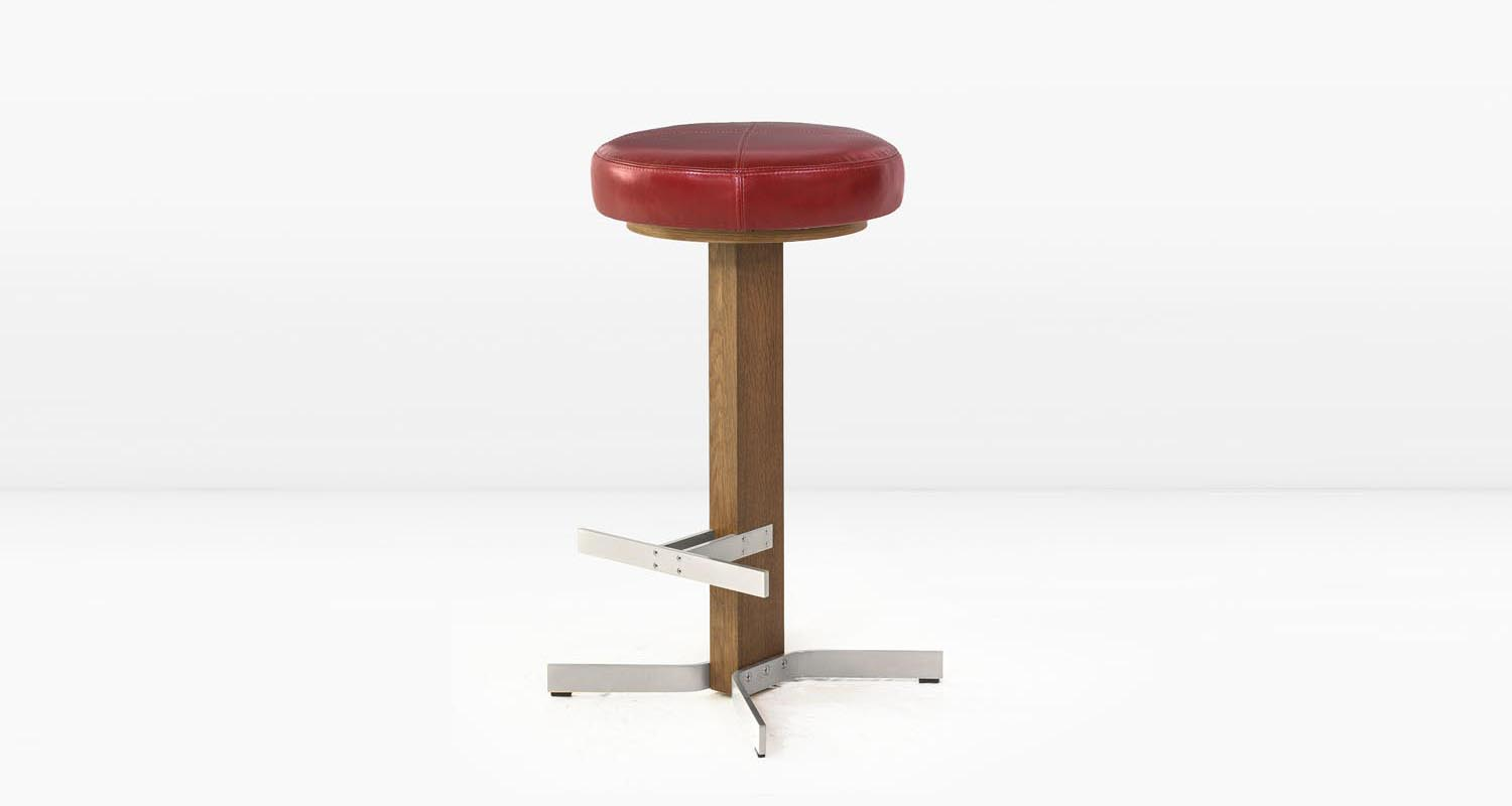 Nickel base and  Cherry  leather seat