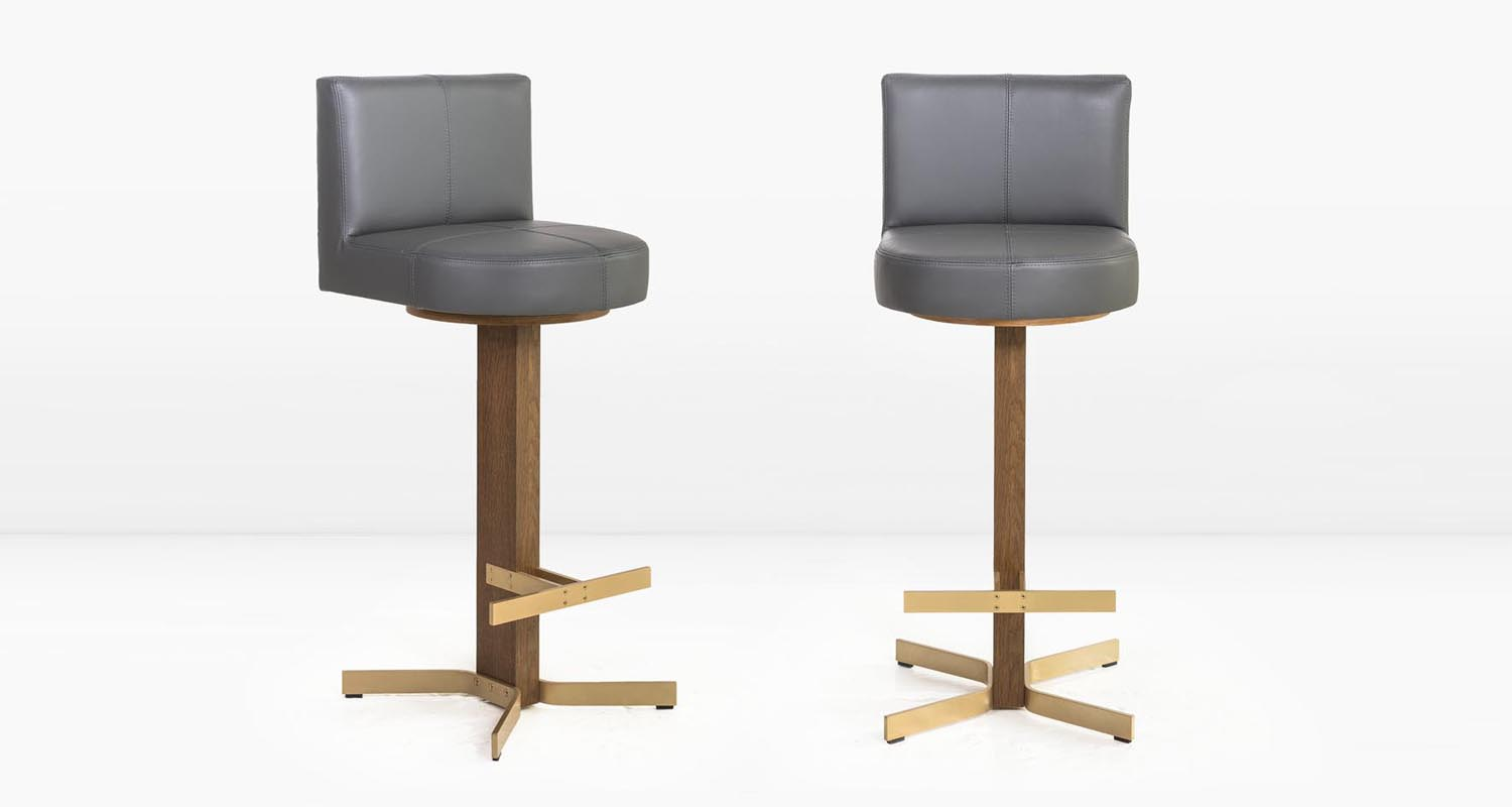 Solid Brass base and  Cloud  leather seat