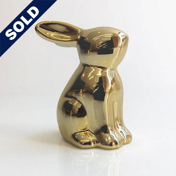 Gold Bunny Figurines