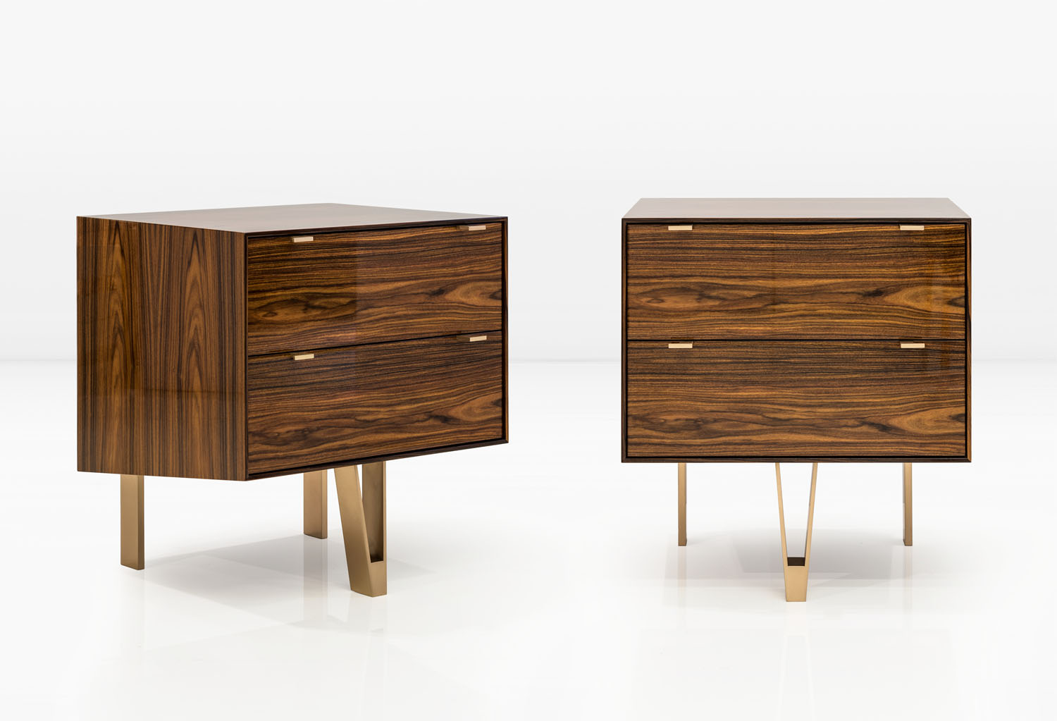 Lacquered South American Rosewood with Silicon Bronze legs and hardware