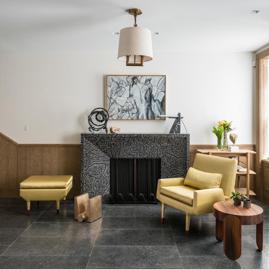 Angott Club Chair and Ottoman
