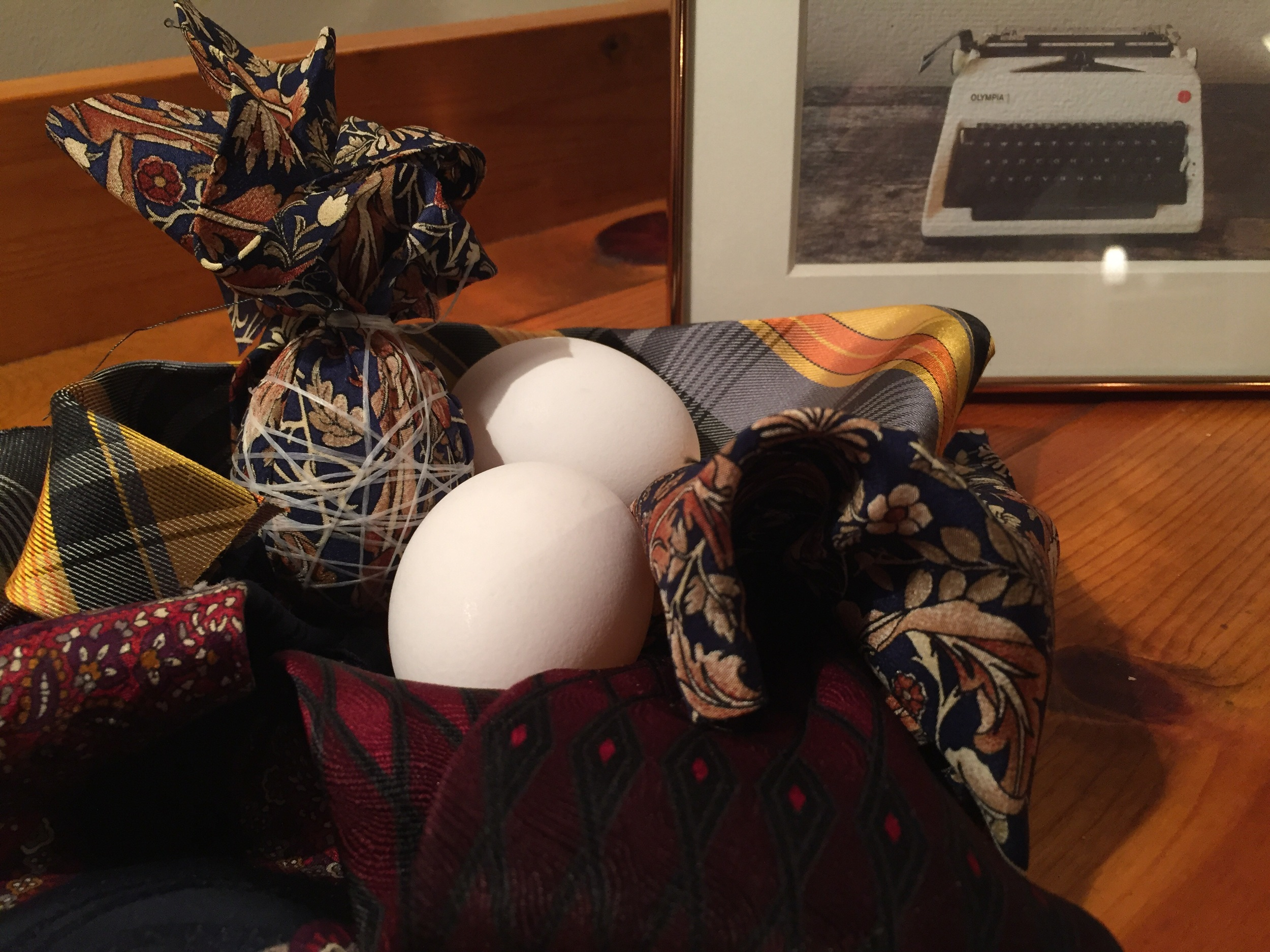 In the silk nest