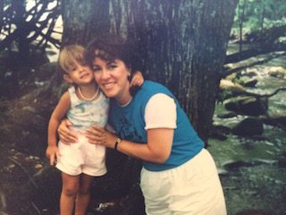 My mama and I in the woods of Tennessee