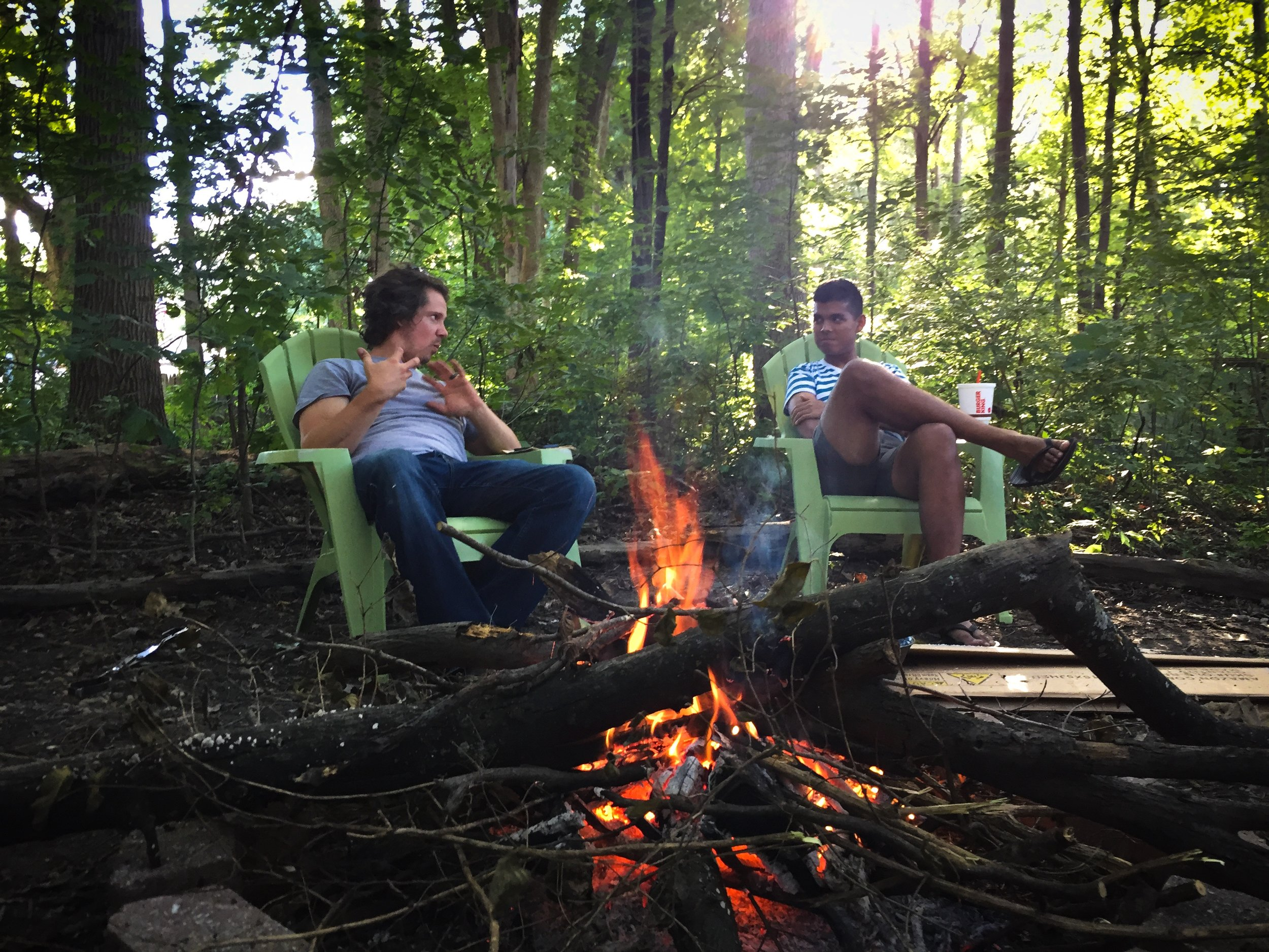 I know this photo seems random, but it's not actually. This is our bonfire clearing and Ashwin was our friend friend to come enjoy it with us! I feel like he should have gotten a door prize.    I am so very excited about being able to have more people over!