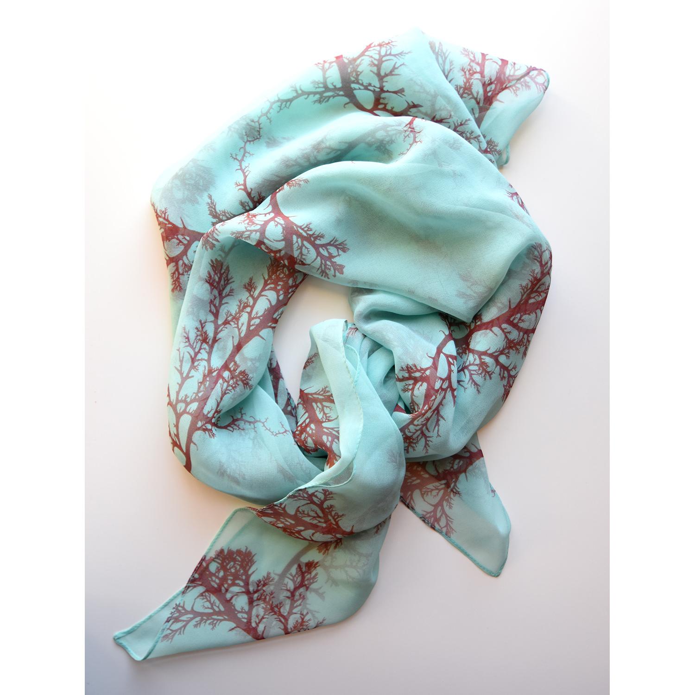 printed onto 100% silk & made into scarves