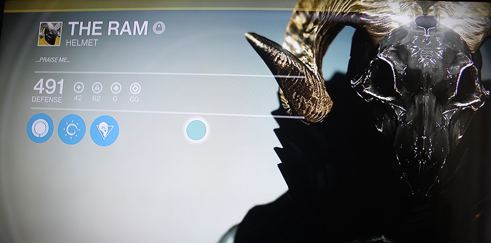 Destiny The Ram Warlock Exotic Helmet