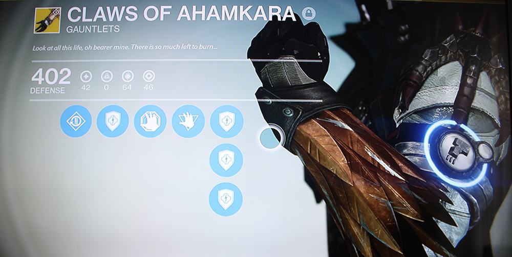 Destiny Warlock Gauntlets Claws of Ahamkara