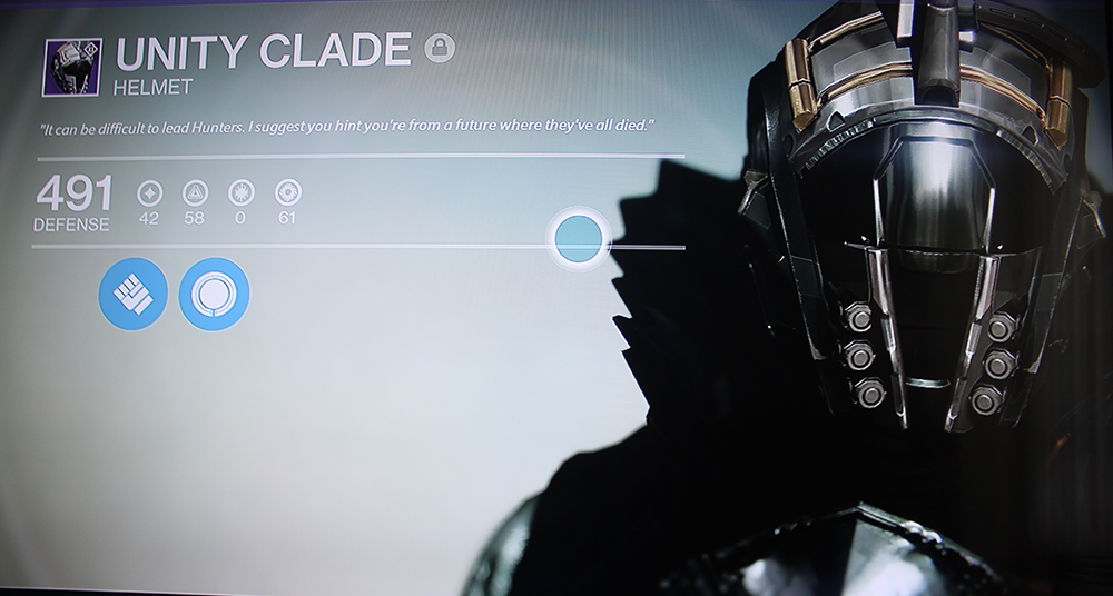 Destiny Legendary Vanguard Helmet House of Wolves Warlock Unity Clade