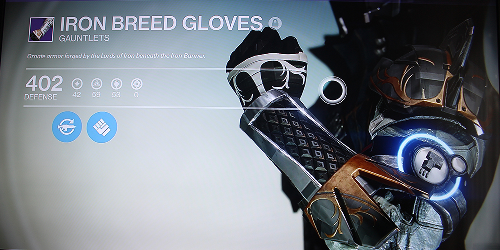 Destiny Iron Breed Gloves Warlock