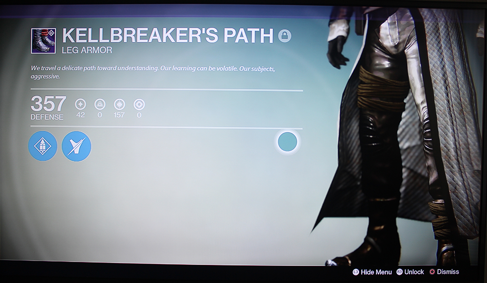 Destiny Kellbreaker's Path Warlock Boots House of Wolves prison of elders