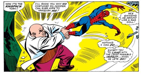 Kingpin defeats Spider-Man The Amazing Spider-Man 50