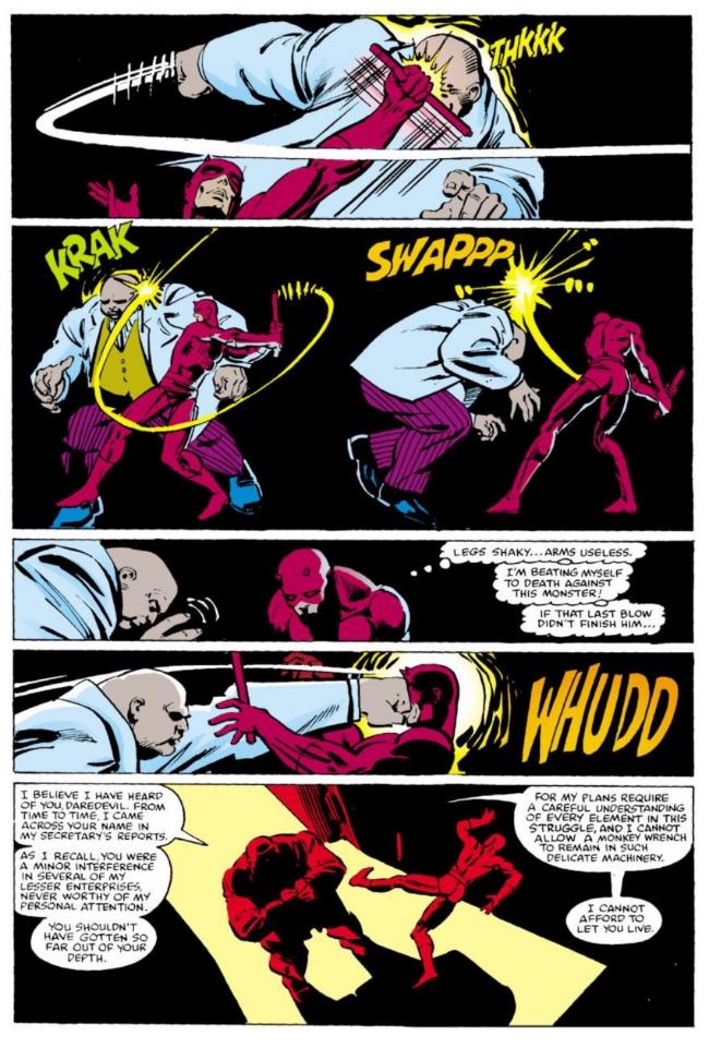 Kingpin Vs. Daredevil #170 and #171