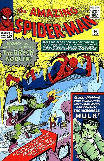 Green Goblin First Appearance in The Amazing Spider-Man #14 (Photo From Marvel: Fair Use Comic Covers)