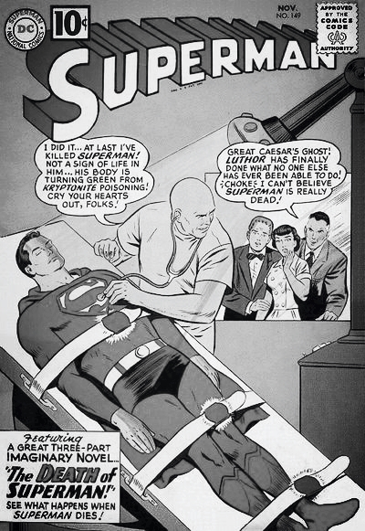 Lex Luthor Superman Vol. 1 #149, Lex Luthor Kills Superman