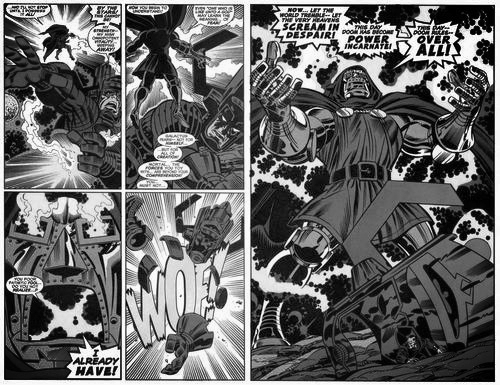 Dr. Doom steals cosmic cube from Galactus