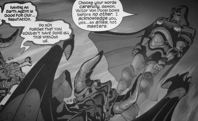Dr. Doom makes a deal with demons, unthinkable