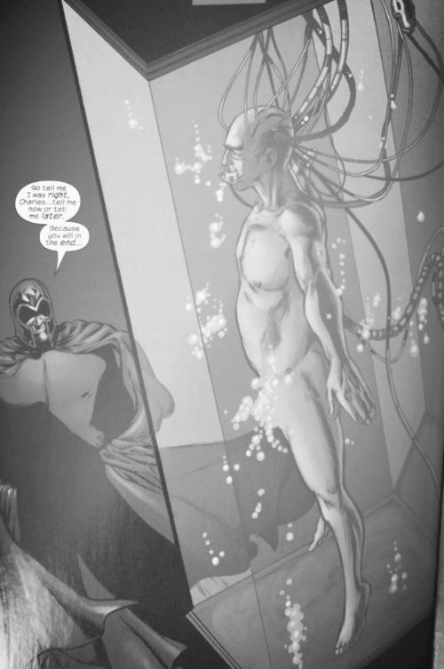Magneto, Xorn, paralyzes Professor X Planet X