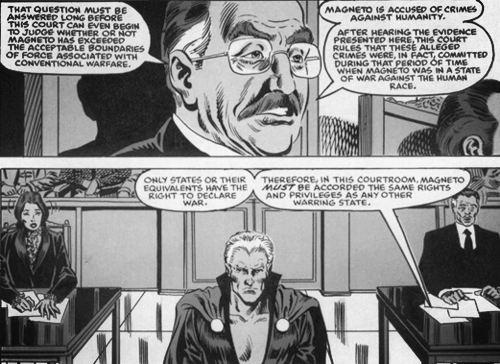 Magneto on trial