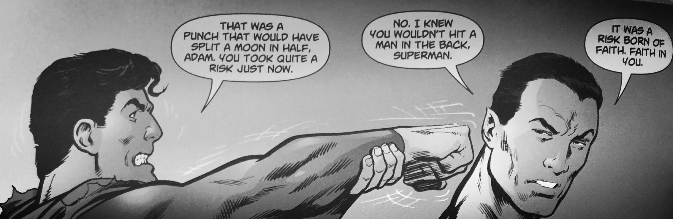 Black Adam turns away from Superman Action Comics #831