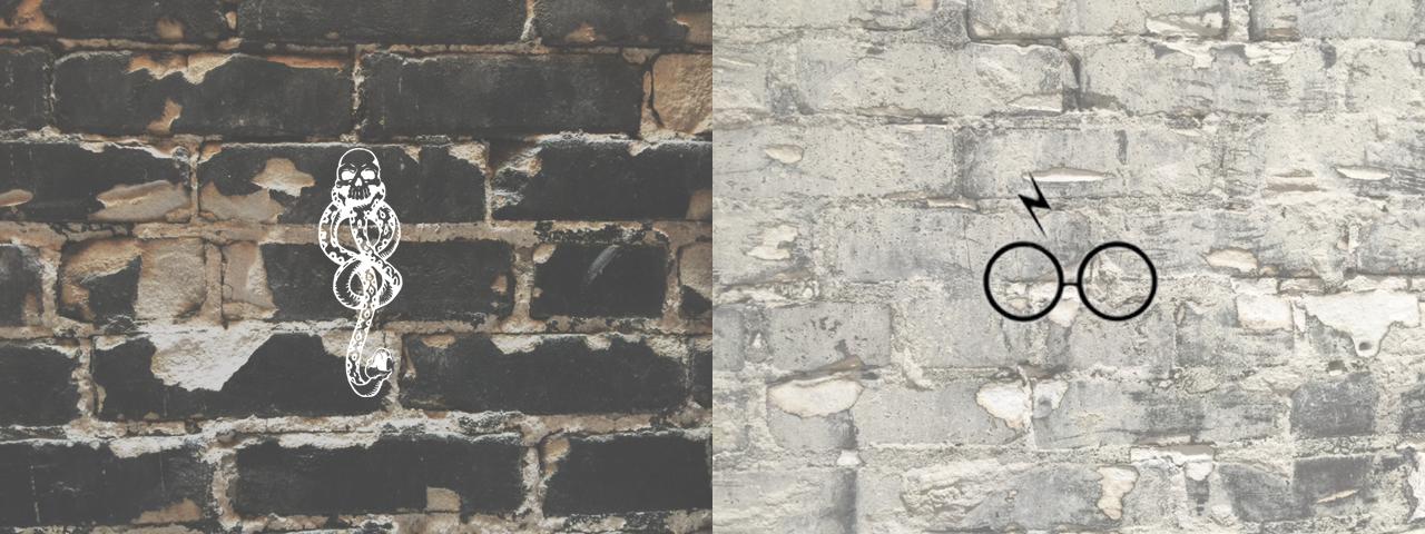 Dark Mark and Harry Potter Glasses Minimal Design, Dark and Light, Black Brick, White Brick, Death Eater Fandom