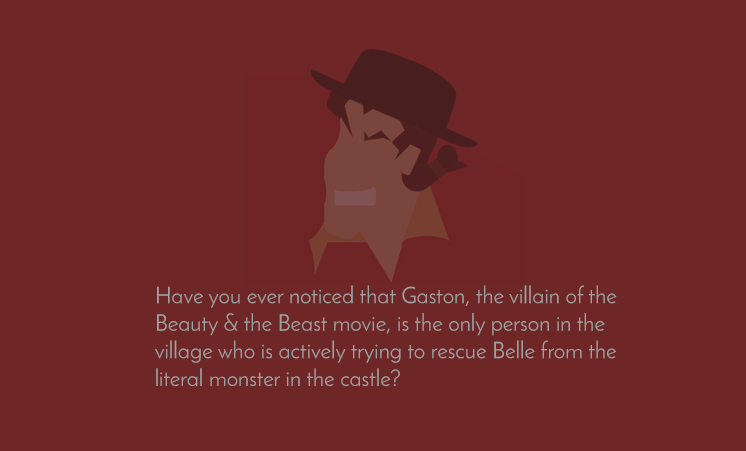 Is Gaston the villain of Beauty & the Beast?