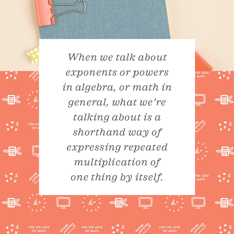 exponents key point