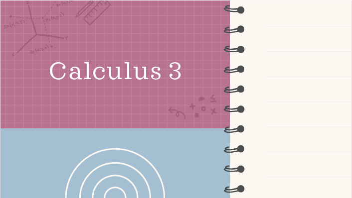Calculus 3 course