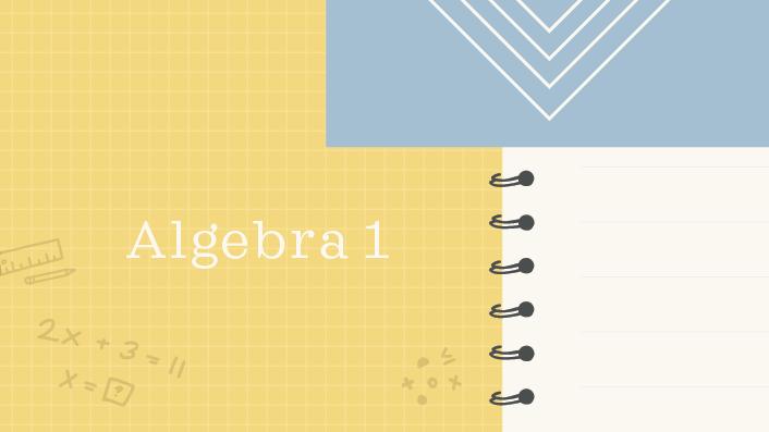 Algebra 1 course