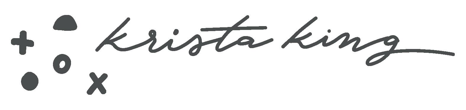 Krista King signature