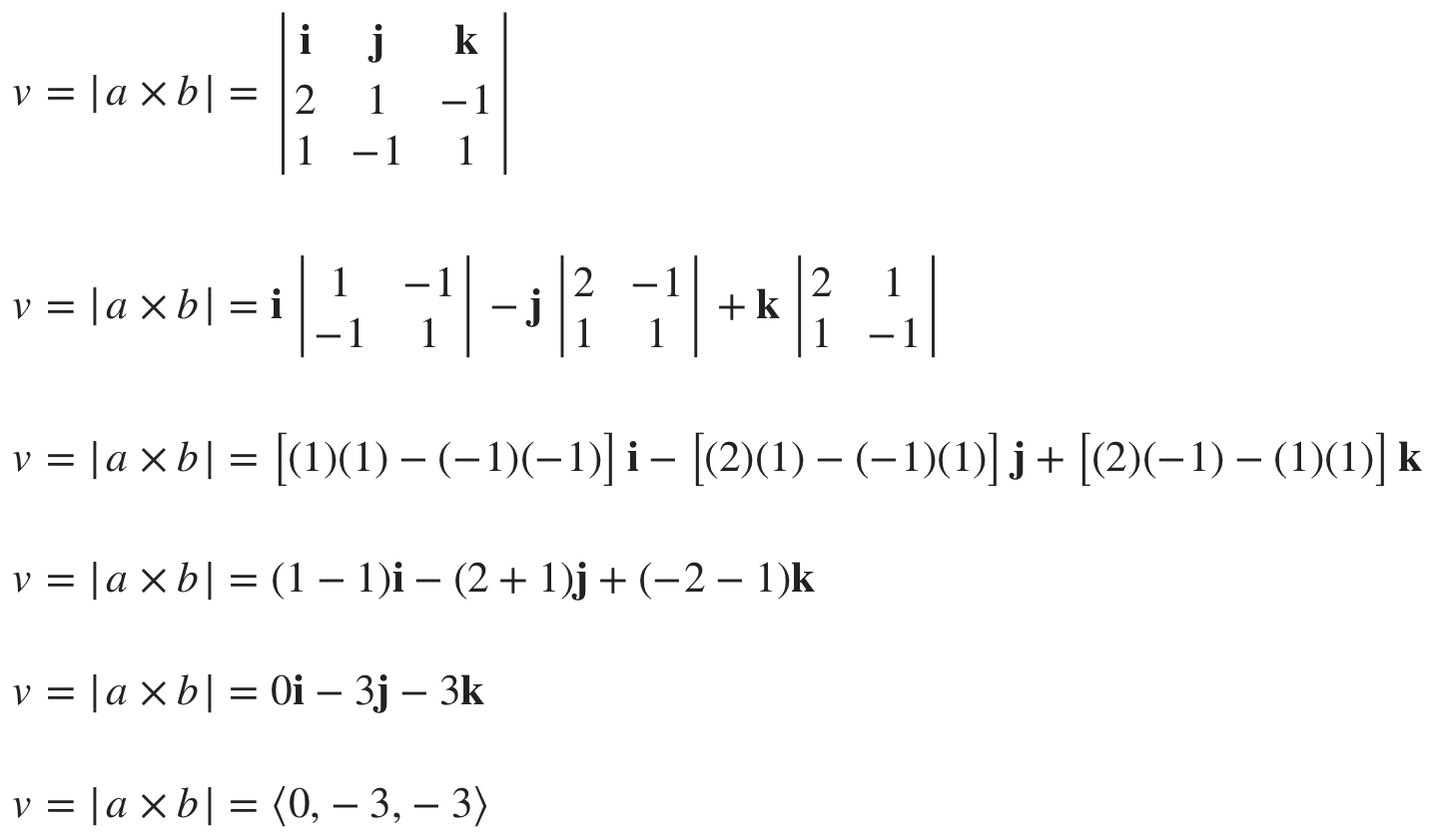 finding the cross product of the normal vectors