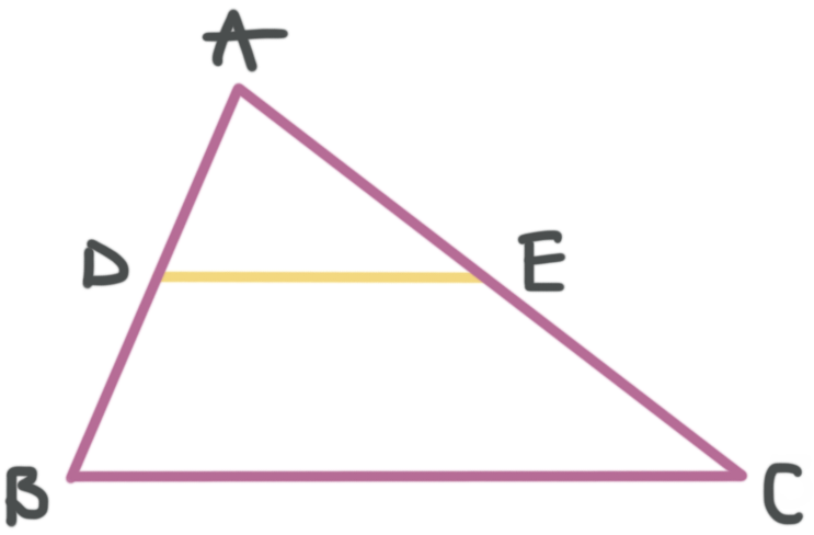 midsegment of triangle ABC