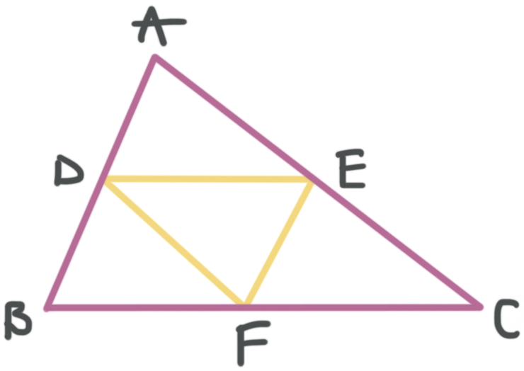 triangles have three possible midsegments, one parallel to each side