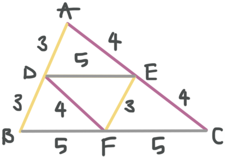 filling out the triangle midsegment diagram
