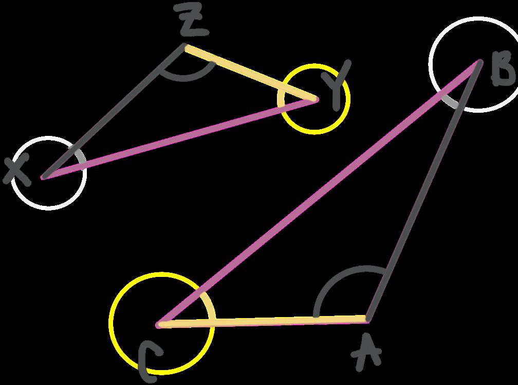 naming similar triangles